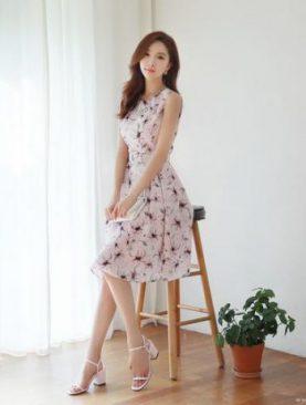 Đầm Vol Họa Tiết Xinh Xắn DH01