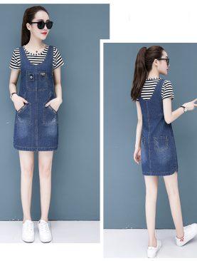 Váy Yếm Jeans Nữ Cá Tính D790